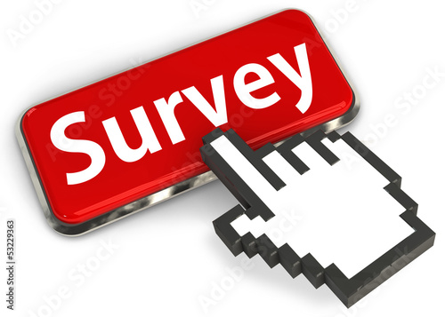 Hand cursor on Survey button