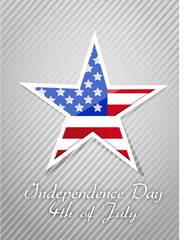 4th July, American Independence Day concept