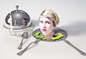 head  on a dish