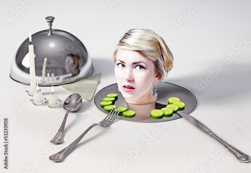 head  on a dish