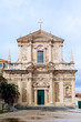 Front view of Saint Ignatius Church in Dubrovnik