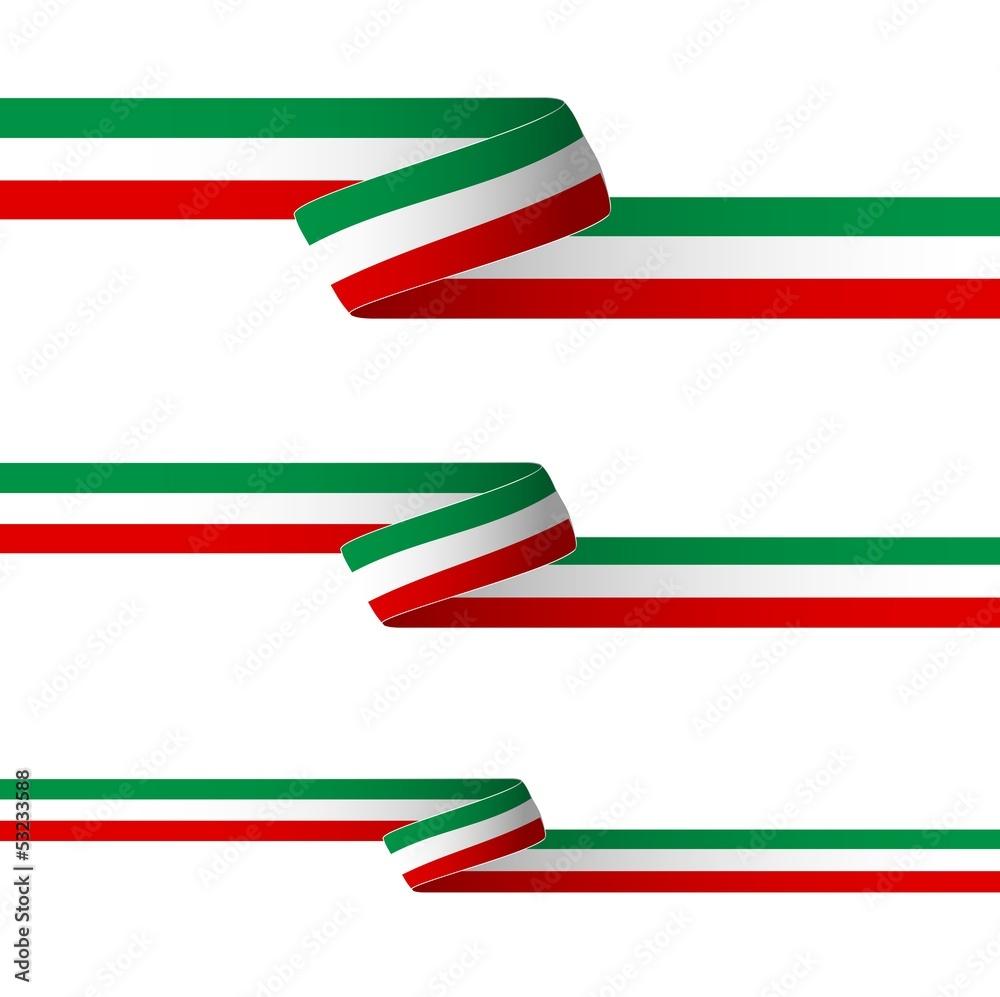 Nastro tricolore italia wall sticker wall stickers