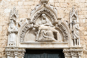 Baroque artistic and architectural detail in Dubrovnik