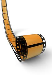 Blanko Filmrolle Orange 07