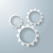 Three White Gears