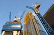 Leinwanddruck Bild - New Skyscrapers Under Construction In The City Of London