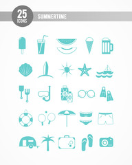 Summertime icons: turquoise