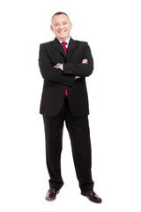 Mature businessman full length portrait