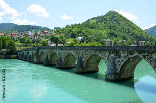 mehmed bridge on drina