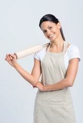 Baker with rolling pin