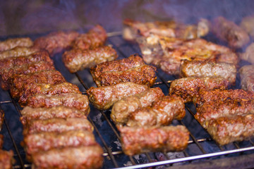 Cevapcici on the grill