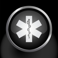 Rod of Asclepius Snake Medical Health Icon Symbol Vector