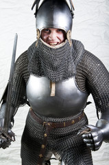 Warrior holding his sword.
