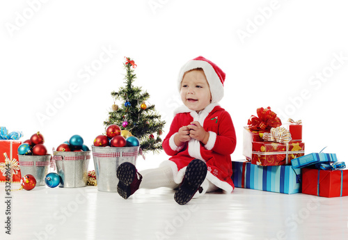 happy baby santa
