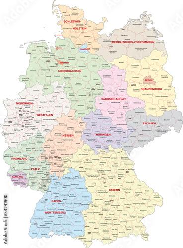 Deutschland, Bundesländer, Landkreise, kreisfreie Städte
