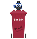Comical Red Sin Bin and Vicar
