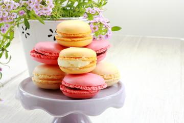 Little macarons on base