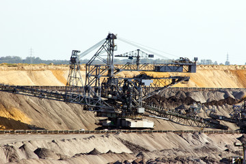 Brown coal mine