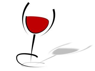 Glas Rotwein - Tribal