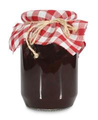 Jar of homemade jam or marmalade