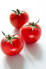 Three fresh tomato