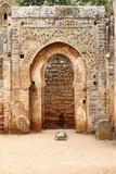 Arabic door in Necropolis of Cellah. Rabat, Morocco