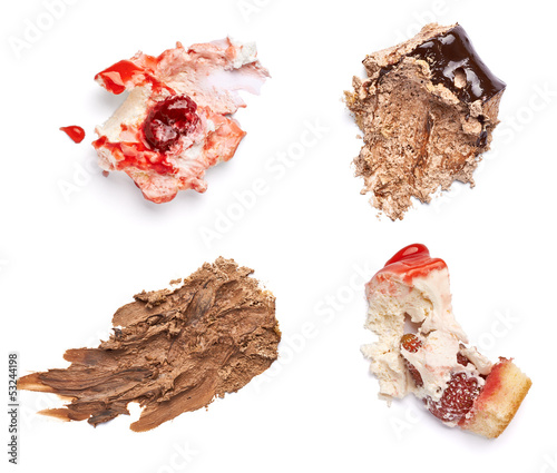 chocolate and strawberry cake stain fleck food dessert
