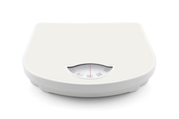 Bathroom scale with clipping path