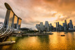 Singapore city skyline at sunset. - 53244709