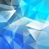 Trapezoid abstract background poster