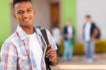 male indian high school student