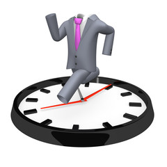 RunningBusinessSuitOnBigClock