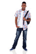 indian teenager boy with schoolbag