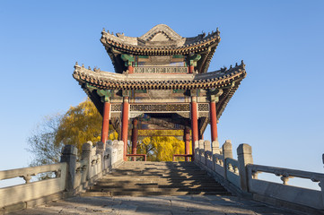 Willow bridge in Xidi of Summer Palace, Beijing