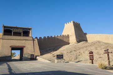 Entrance gate of Jiayuguan castle, Gansu of China