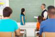 high school girl been called to chalkboard