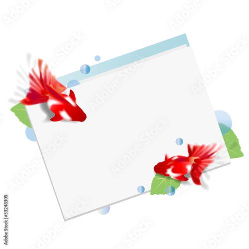 金魚のカード