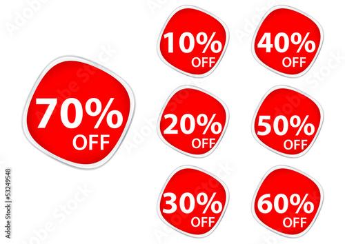 Discount price tags .square sticker label