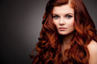 woman with red curly hair