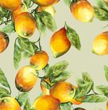Fototapety Lemons Seamless Pattern