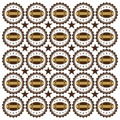 american football pattern two