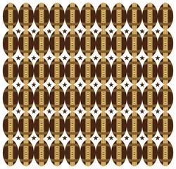 american football pattern three