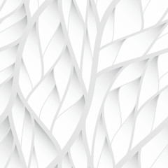 vector 3d branch and leaf seamless wallpaper