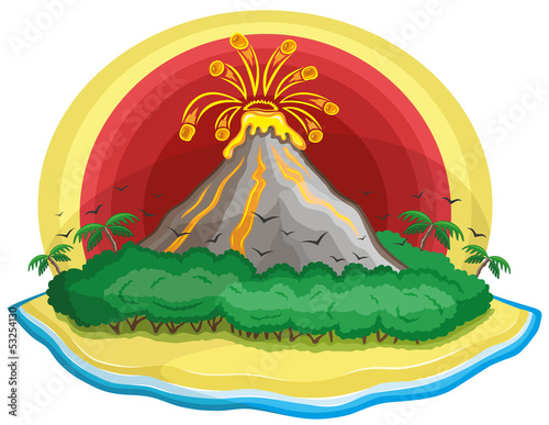 Cartoon volcano.