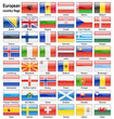 vector european flag web buttons