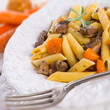 penne with goulash