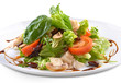 fresh salad with mushrooms