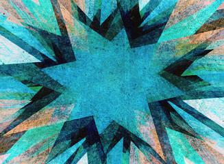 Blue grunge flash explosion
