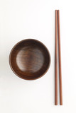 wooden bowl and chopstick