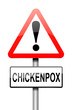 Chickenpox concept.